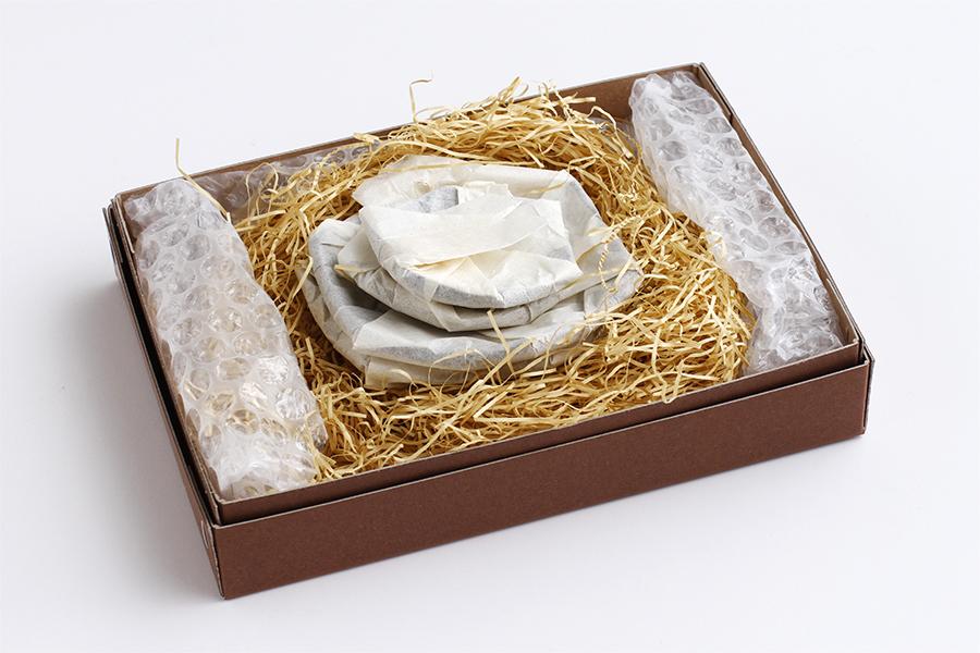 雪小紋の小皿6枚セット