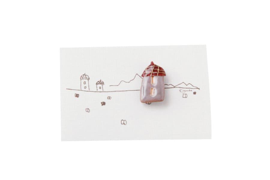 【春の贈り物展】サイロのブローチ