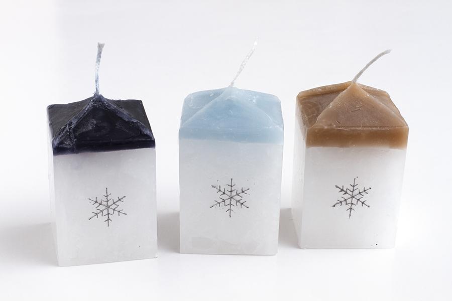 【北海道スロウなお買い物展】雪の結晶キャンドル(中)