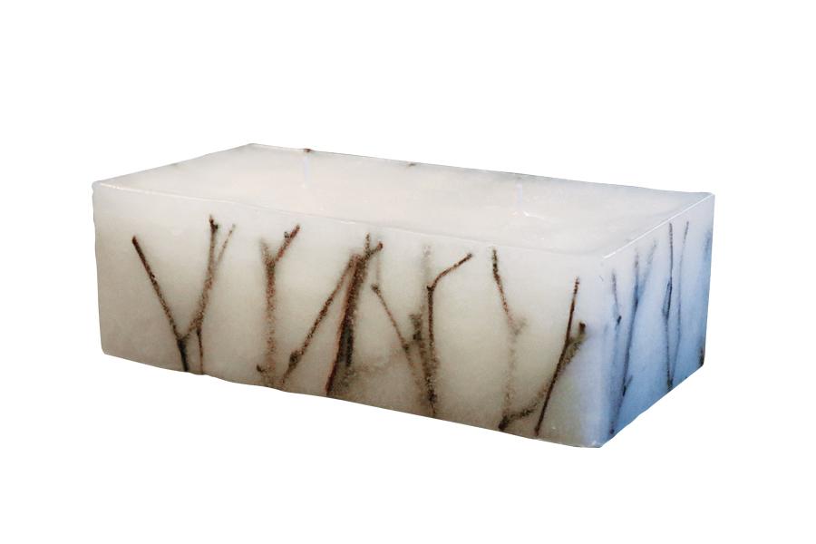 白樺キャンドル 長方形