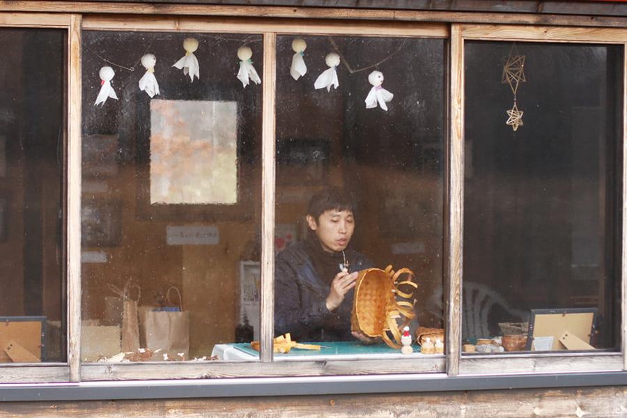 【春の贈り物展】白樺細工 ペトリファイドウッドの耳飾り