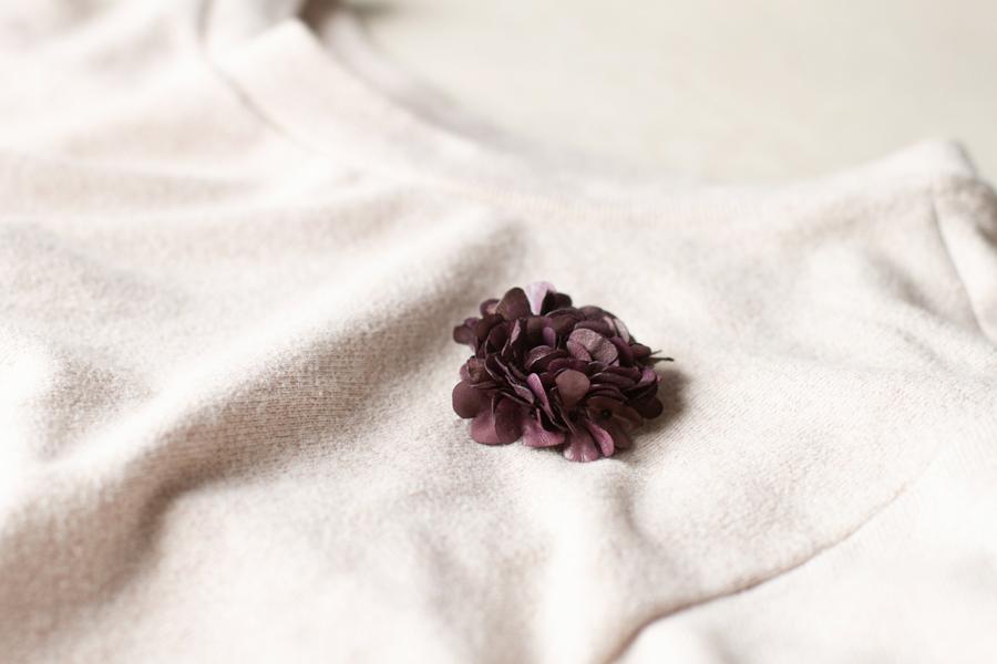 【春の贈り物展】スミレのブローチ