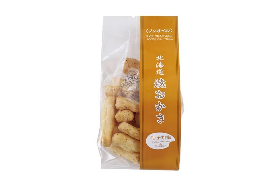 北海道米菓フーズのおかき(小)4袋セット