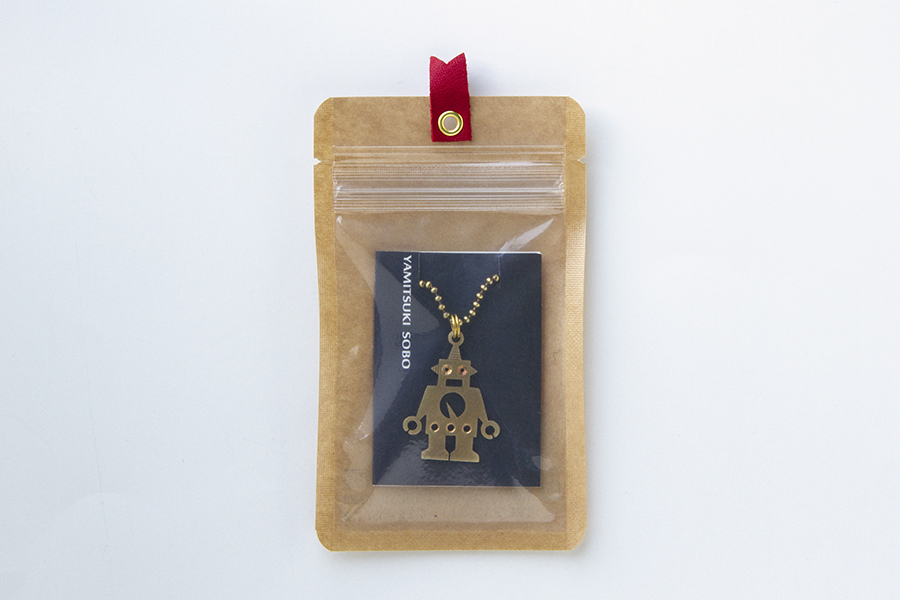 真鍮ネックレス(ロングチェーン) 闇月ロボット