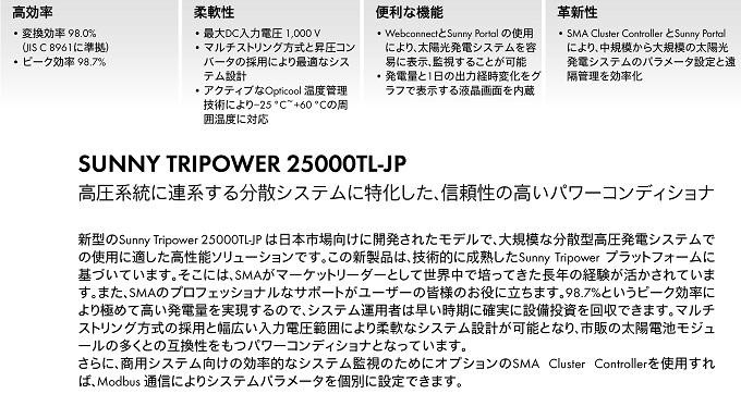 【三相25kW 高圧用】SMA パワコン STP25000TLEE-JP-30 パワーコンディショナー