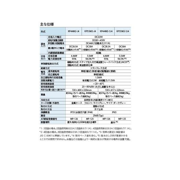【単相4.4kW 屋外用】オムロン パワコン 外部入出力端子付 KP44M-PJ4-A パワーコンディショナー