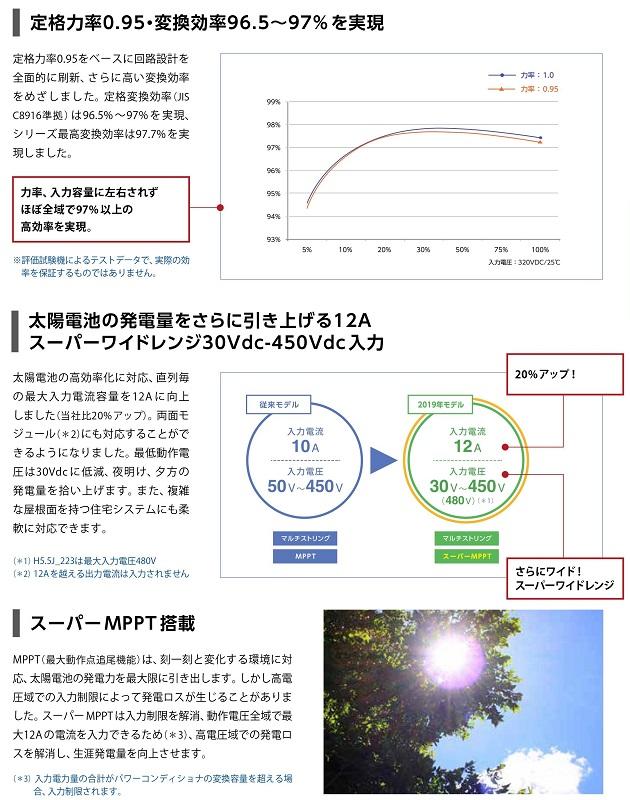 【単相4.5kW 住宅用】デルタ電子 パワコン H4.5J_230 パワーコンディショナー