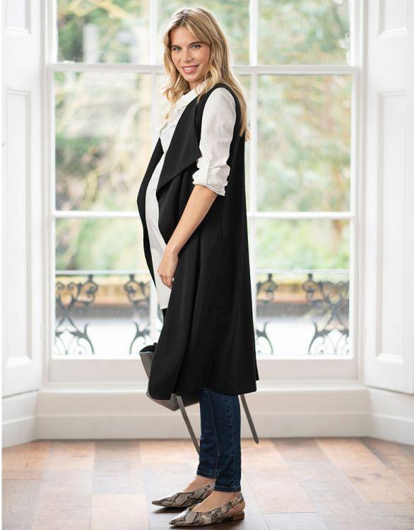 Seraphine SHIRLEY ウォーターフォールノースリーブジャケット -ブラック