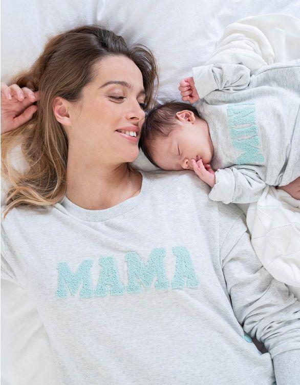 Seraphine DOT <授乳対応>ママ&ミニ マタニティスエットトップセット -グレイマール