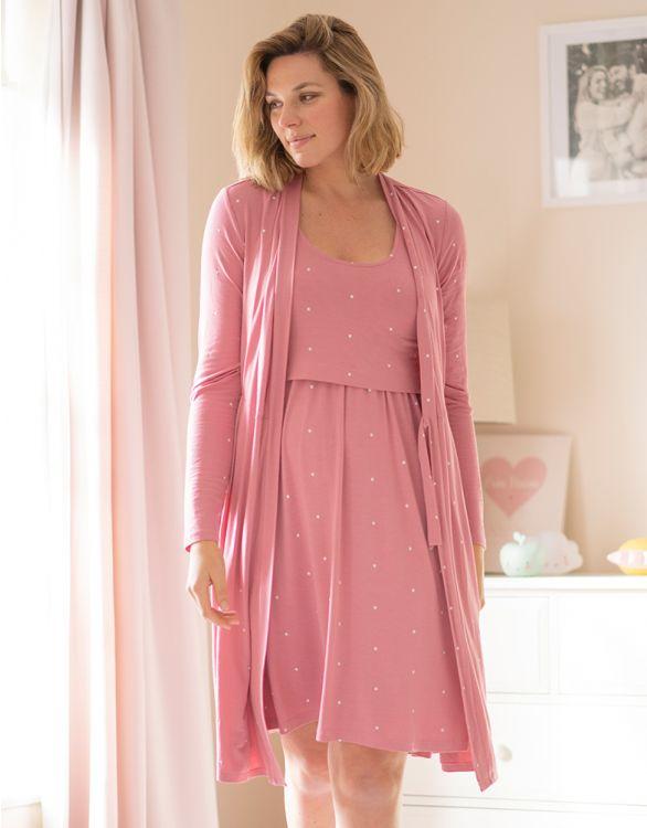 Seraphine WESTLEY <授乳対応>マタニティパジャマセット -ピンクドット