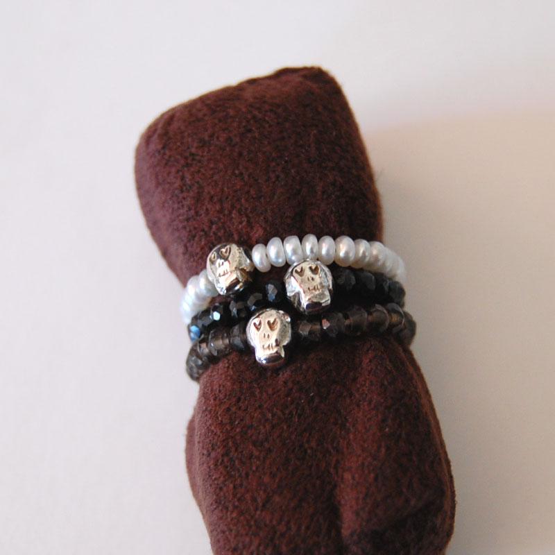chibi jewels ジェムストーンリング/スカル -スモーキークォーツ