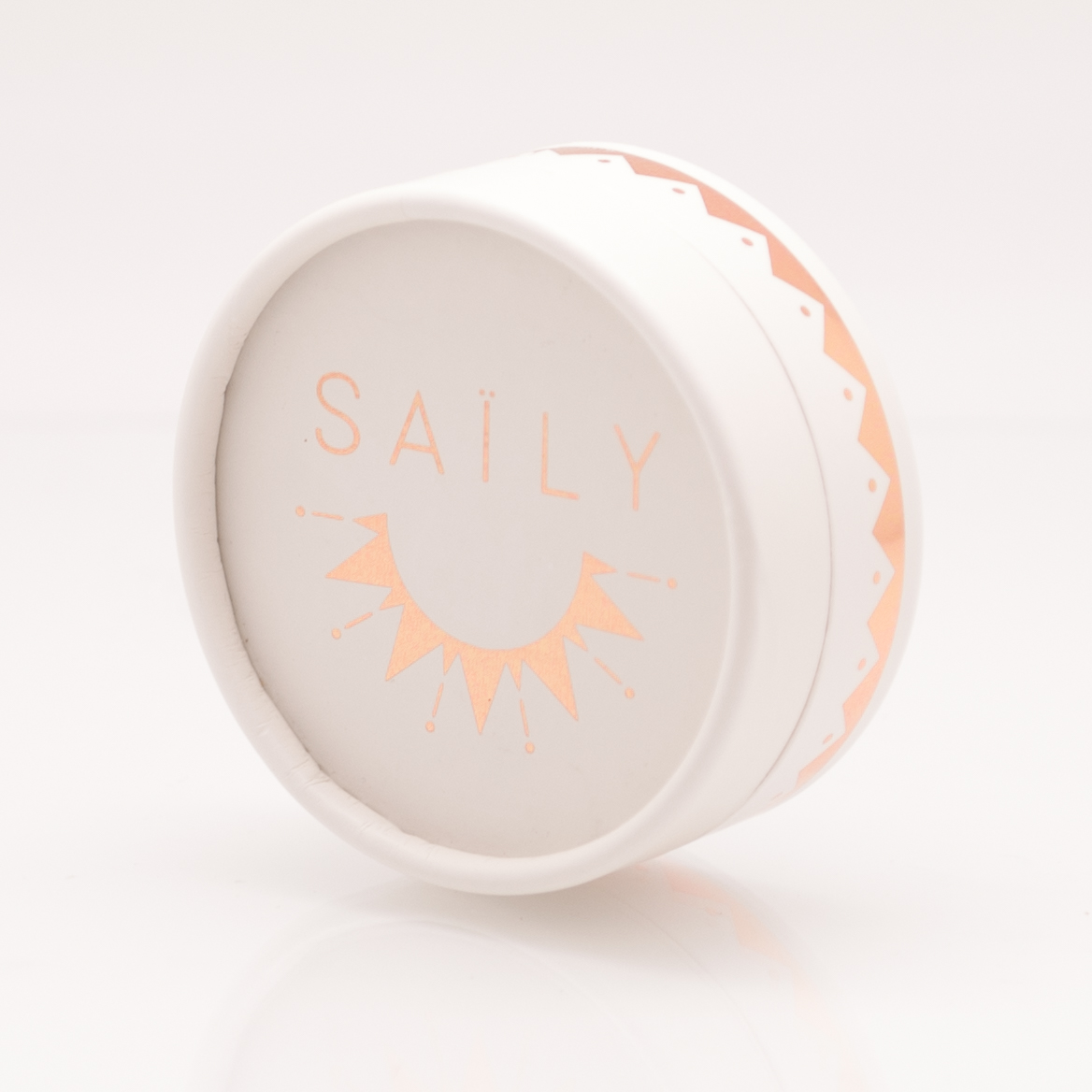SAILY BOLA フットプリントマタニティネックレス -シルバー/ ピンクベージュ