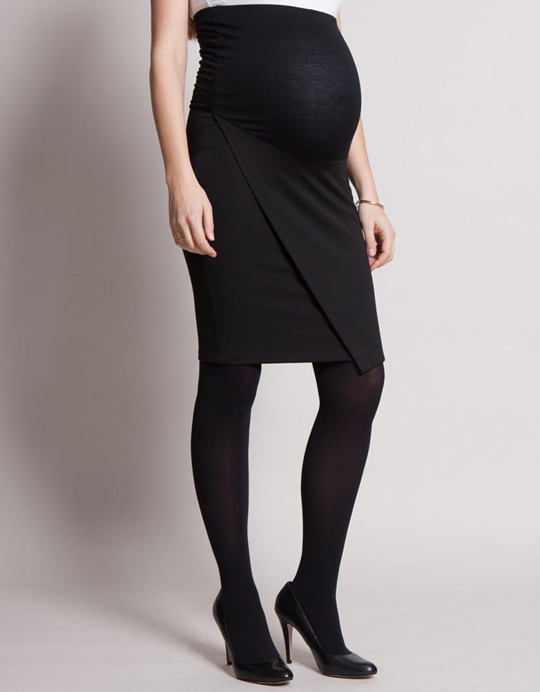 Seraphine LEONA ポンチマタニティスカート -ブラック