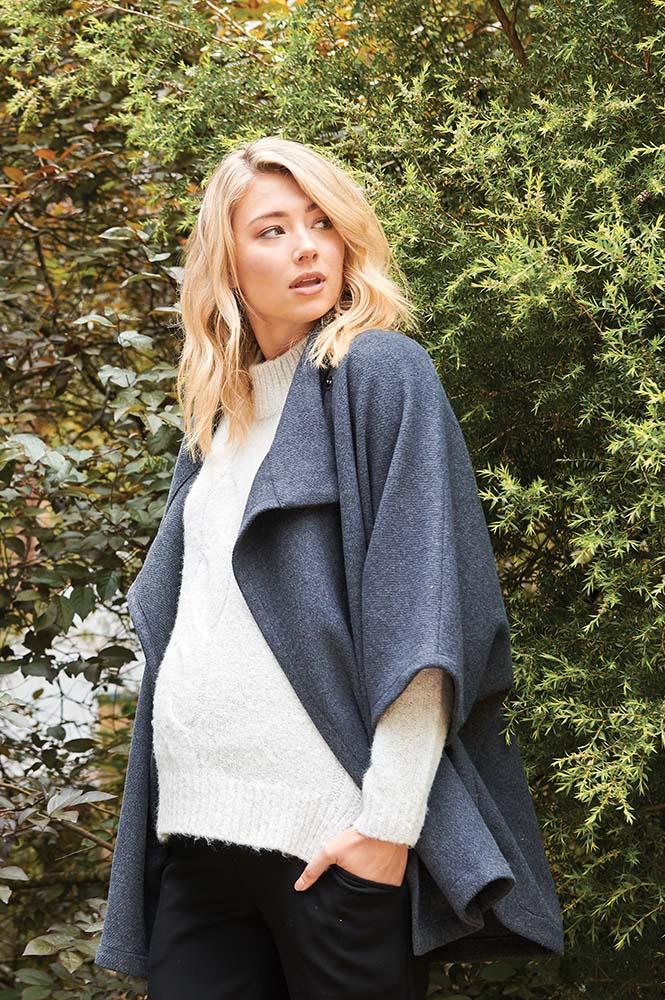 RIPE maternity DEVON マタニティケープ -チャコールグレイ