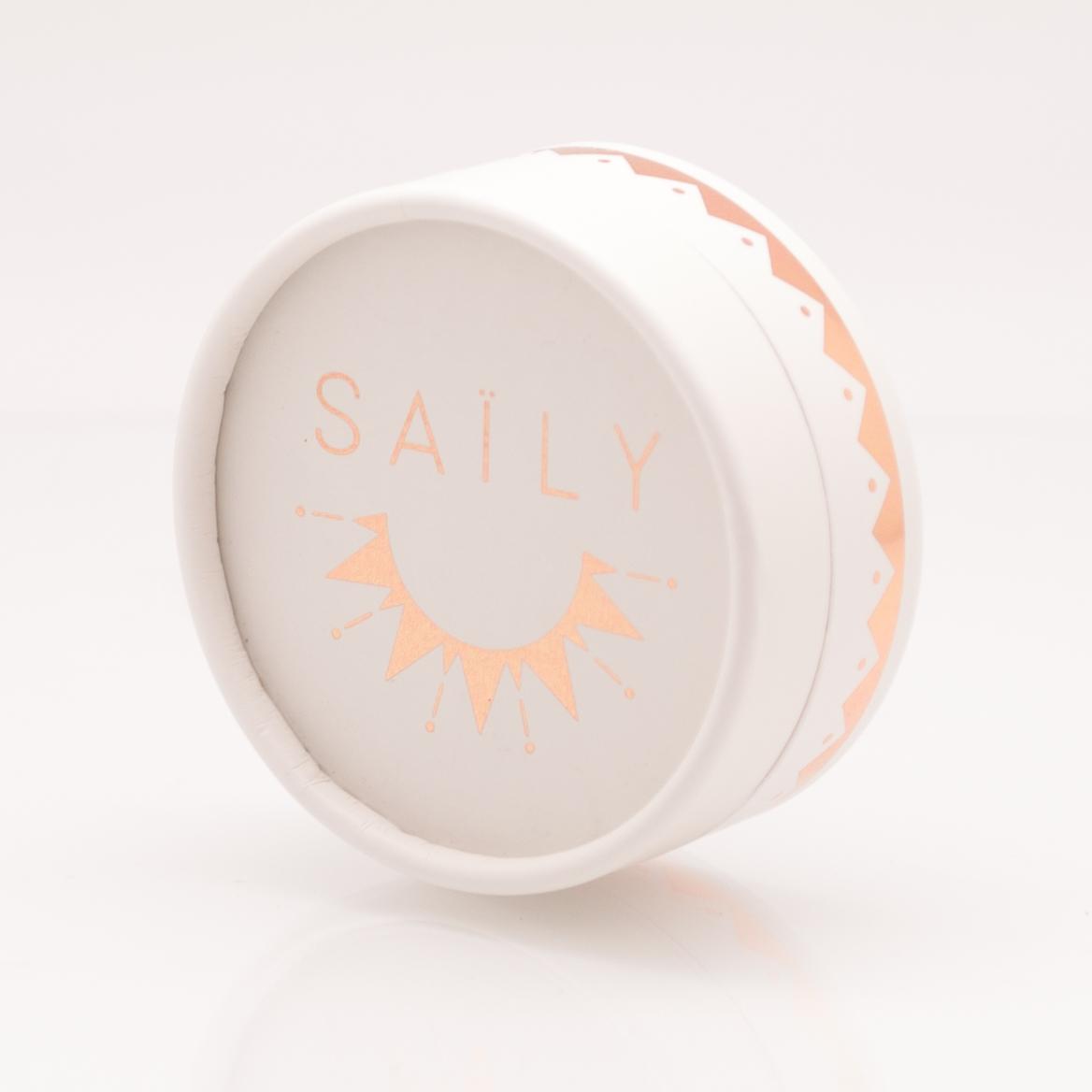 SAILY BOLA パイエットマタニティネックレス -シルバー/シルバーラメ