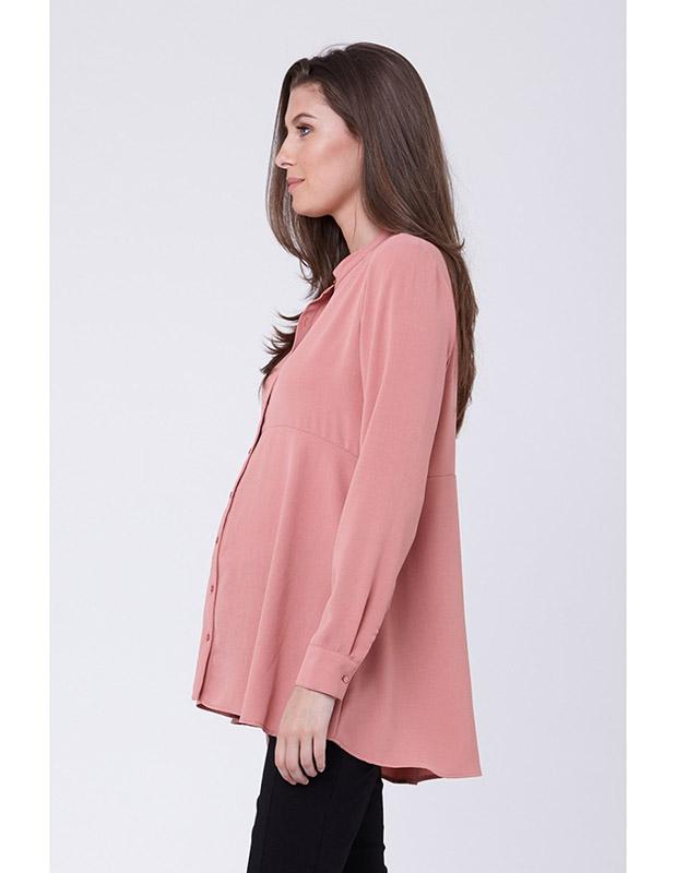 RIPE maternity <授乳対応>ペプラムマタニティシャツ -ティーローズ