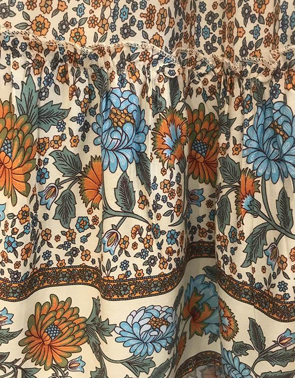 Seraphine DELANEY bohoマキシスカート -フラワープリント