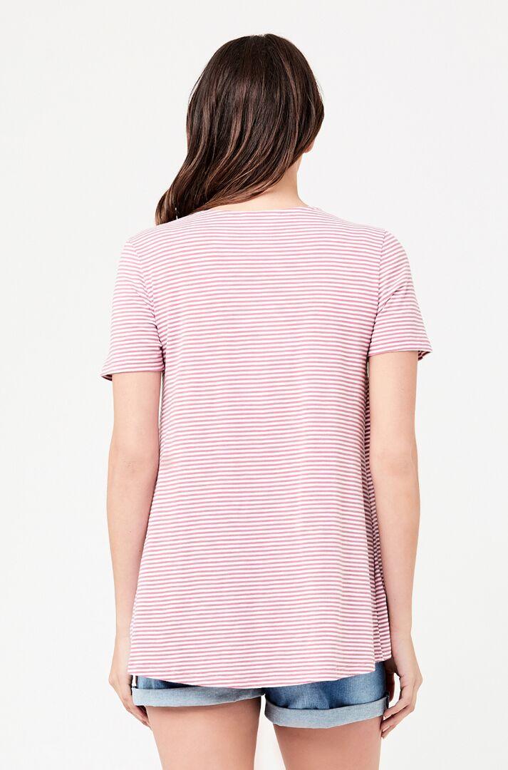 RIPE maternity <授乳対応>メゾンマタニティ ティシャツ -ローズストライプ
