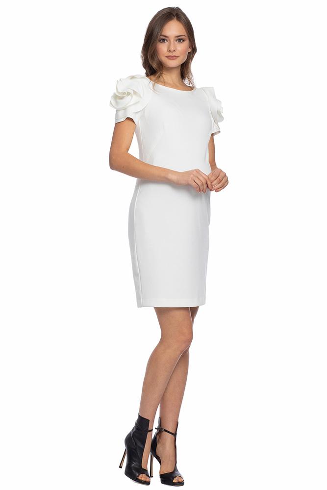 Pietro Brunelli DRESS SALISBURGO デザインスリーブワンピース -ホワイト