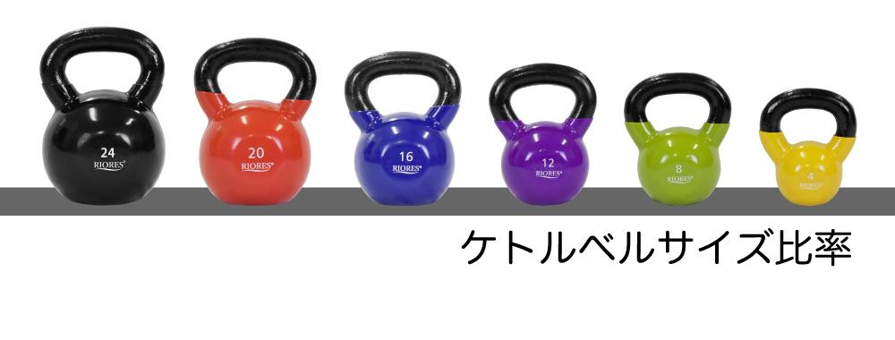 送料無料】RIORESケトルベル 24kg 1個 PVCコーティング エクササイズフィットネスダイエットストレッチ鉄アレイトレーニングシェイプアップダイエット