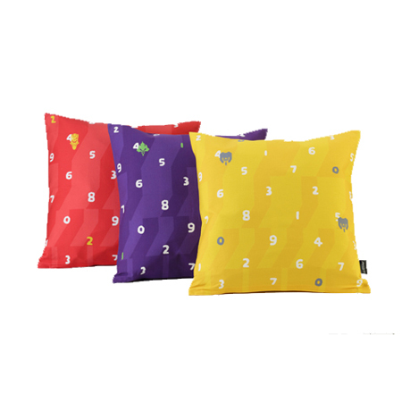 EVANGELION Cushion (textile design by SOU・SOU) 弐号機