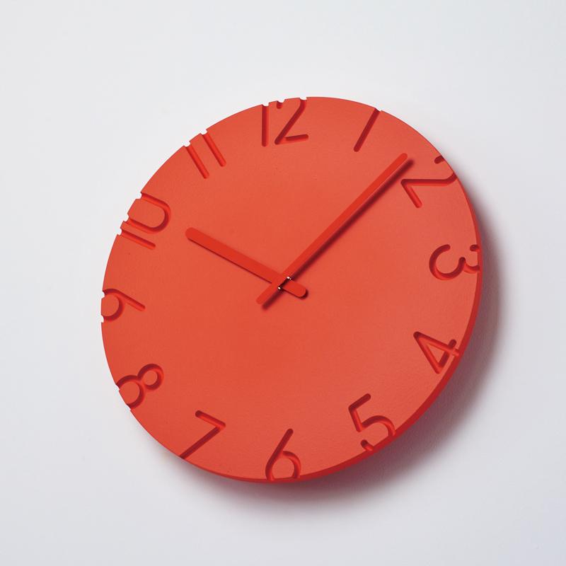 ウォールクロック(350-47549) オレンジ