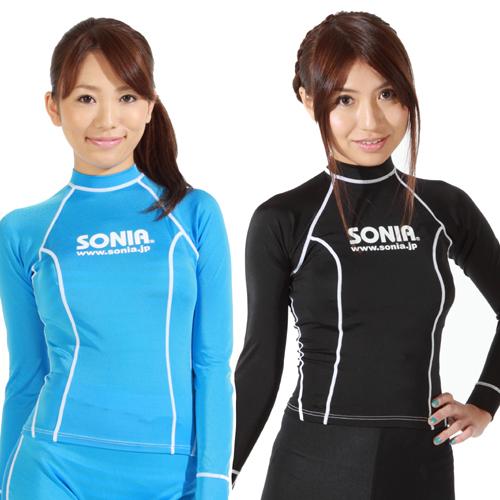 SONIA(ソニア) 【フェイサー】 ウィメンズラッシュガード 長袖【ロゴ有】