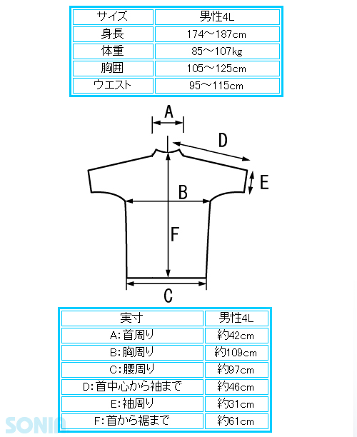 SONIA(ソニア) 【フェイサー】 ラッシュガード 半袖【ロゴ有/男性4L・5L】