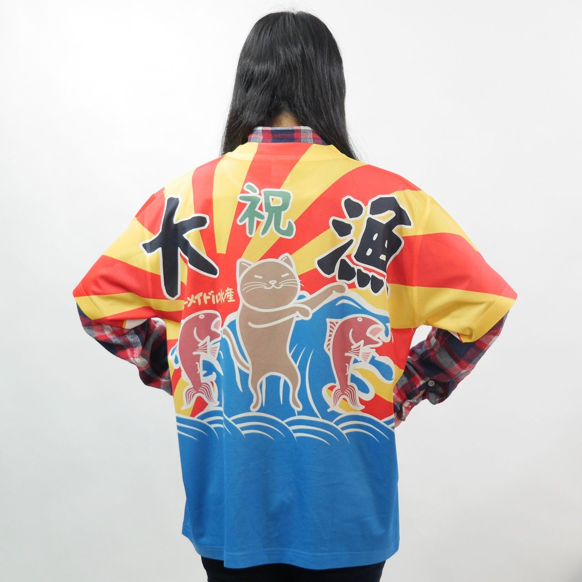 Amber(アンバー) 大漁旗Tシャツ 半袖 ドライ生地 【送料無料】