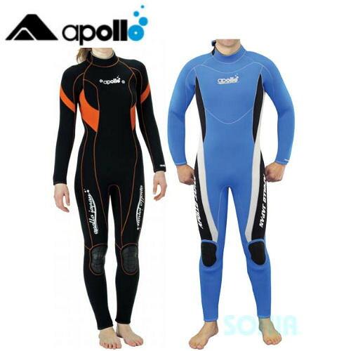 apollo(アポロ) AWS-104/AWS-107 アポロウェットスーツ・スタンダード 半袖ワンピース ユニセックスタイプ apollo-wet Standard