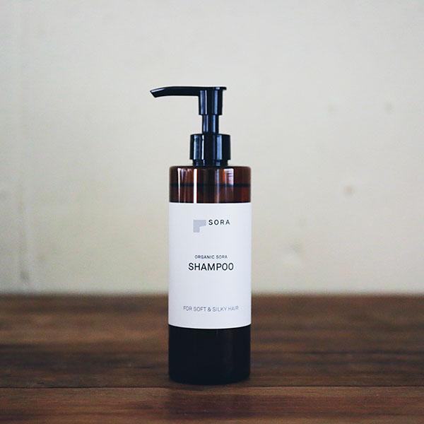 人気!!オーガニックソラシャンプー【ゼラニウムベースの香り】ORGANIC SORA SHAMPOO<<FOR SOFT&SILKY HAIR >> 300ml