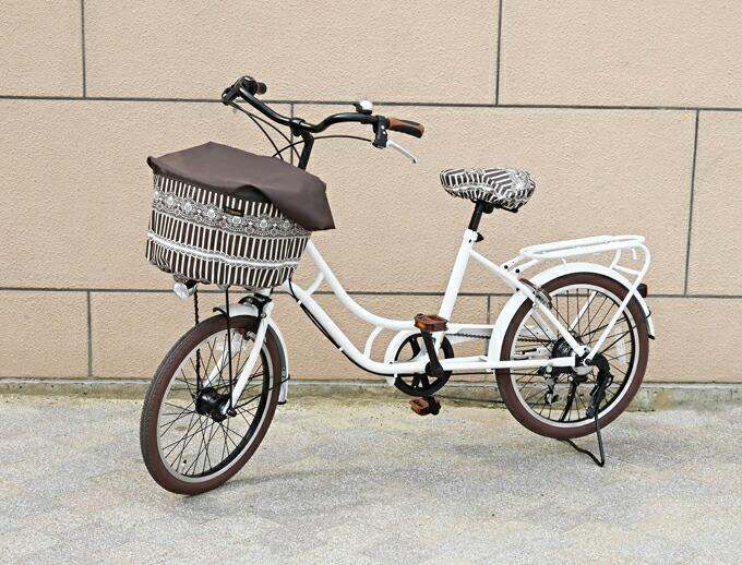 新着【メール便OK♪】自転車のワンポイントに!ラミネートサドルカバー