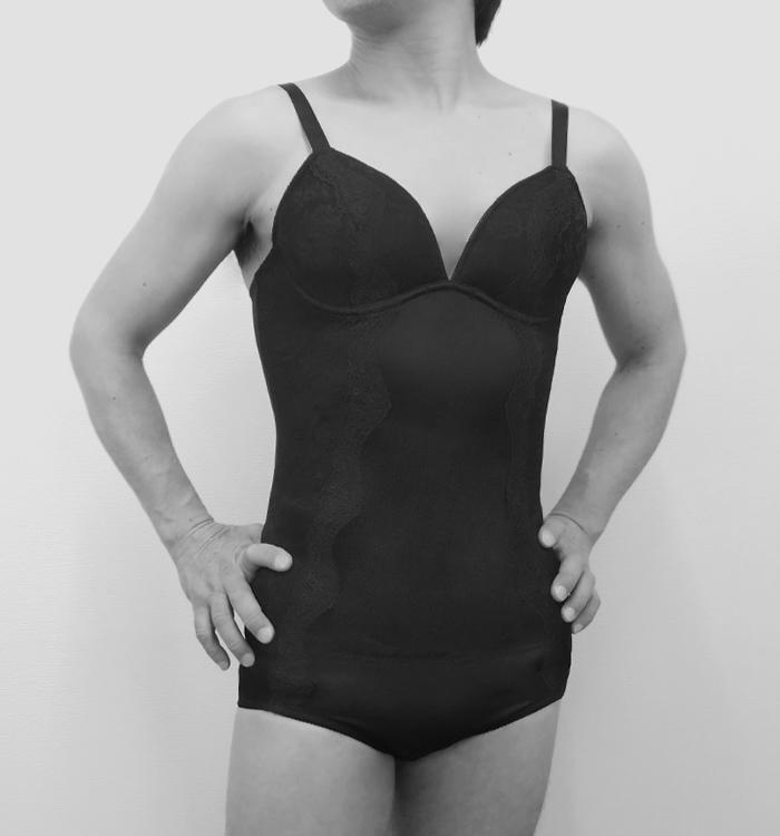 ボディスーツ<パッド5点付属>【男性用(女装)】 Sor-2 美しく自然なバストライン+整ったボディライン+女性らしい腰&ヒップ 女装用全身インナー