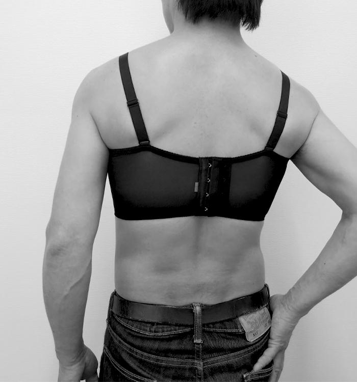リアルブレストブラジャー<パッド4点付属>【男性用(女装)】Sor-7 ボリュームのあるバストライン〜ナチュラルな胸 自由自在に調整可能な女装専用ブラジャー<特許出願中>