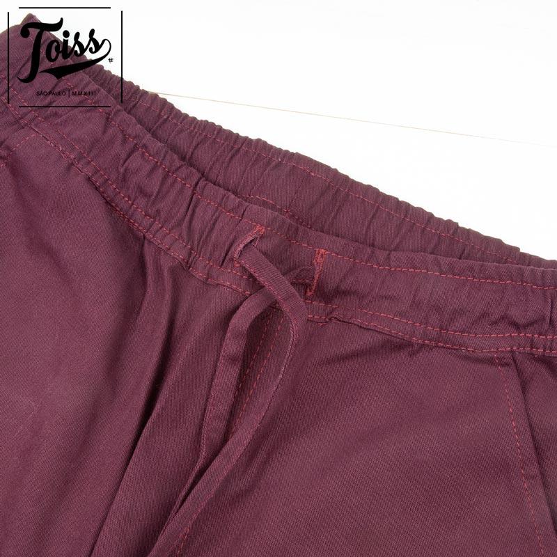 【TOISS】トイスクロップドジョガーパンツ|裾ゴム バーガンディー