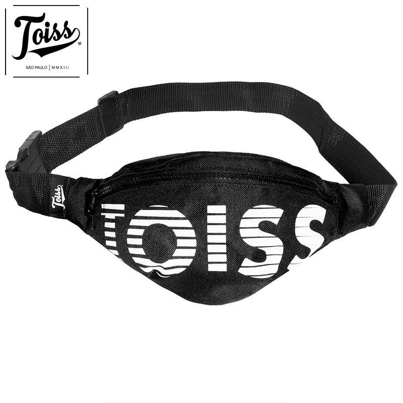 【TOISS】トイスボーダーロゴウエストポーチ LOGO RISCADO  | ブラック