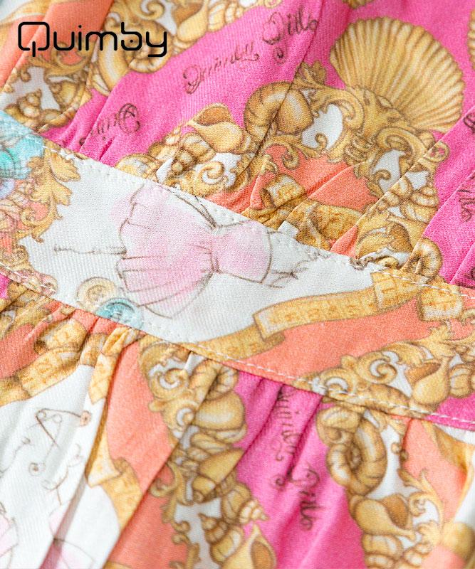 ■30% OFF■ 【QUIMBY】女の子ワンピース【子供服・おしゃれ】シェルデザイン|コーラル