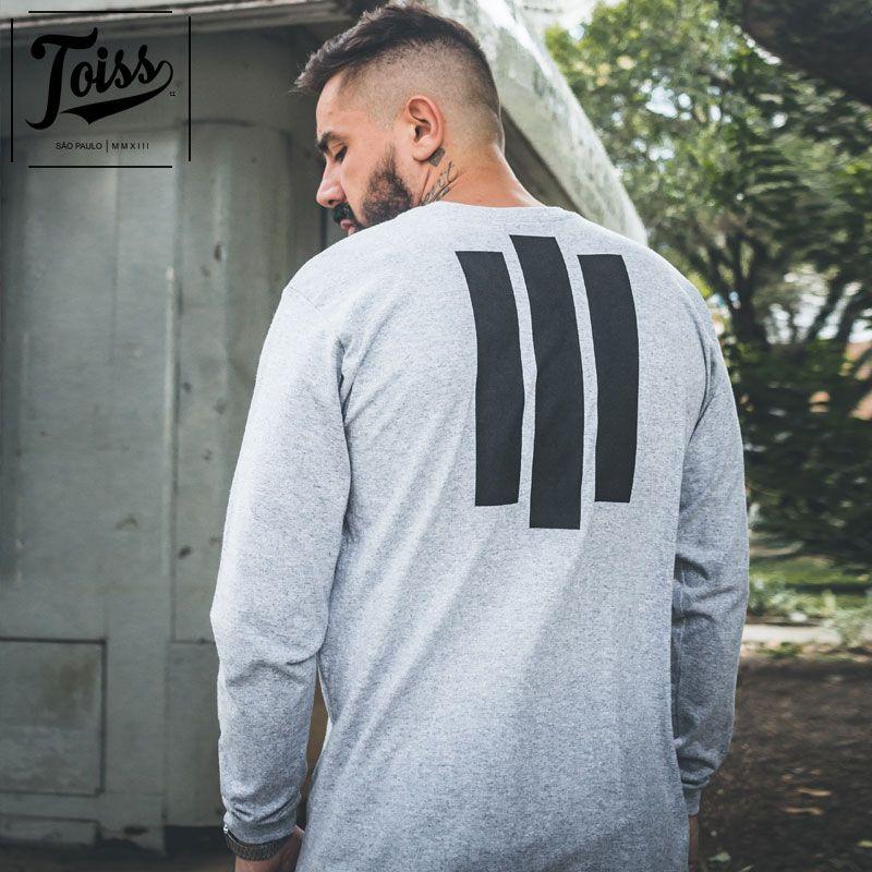 【TOISS】#3ラインデザインロンT ロングTシャツ グレー ネイマールブランド