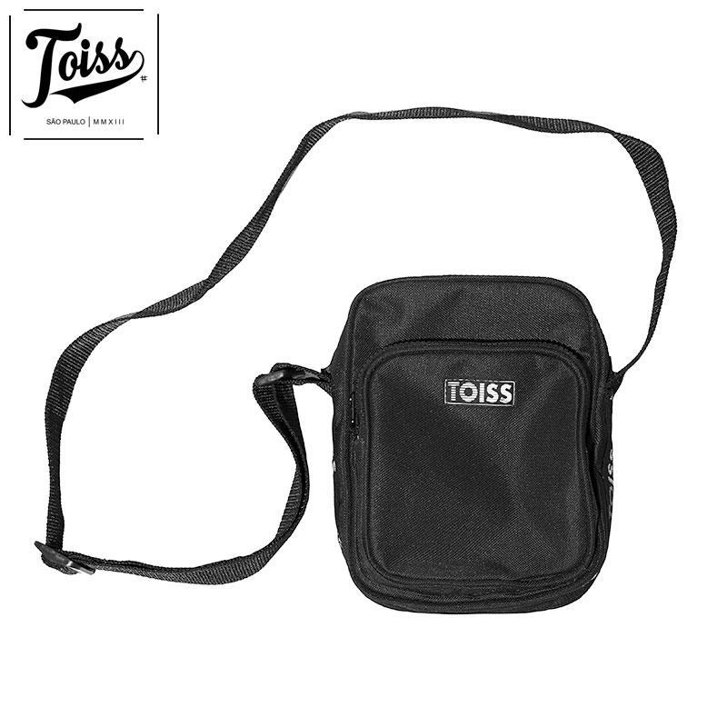 【TOISS】トイスボーダーロゴショルダーバッグ ELASTICO | ブラック