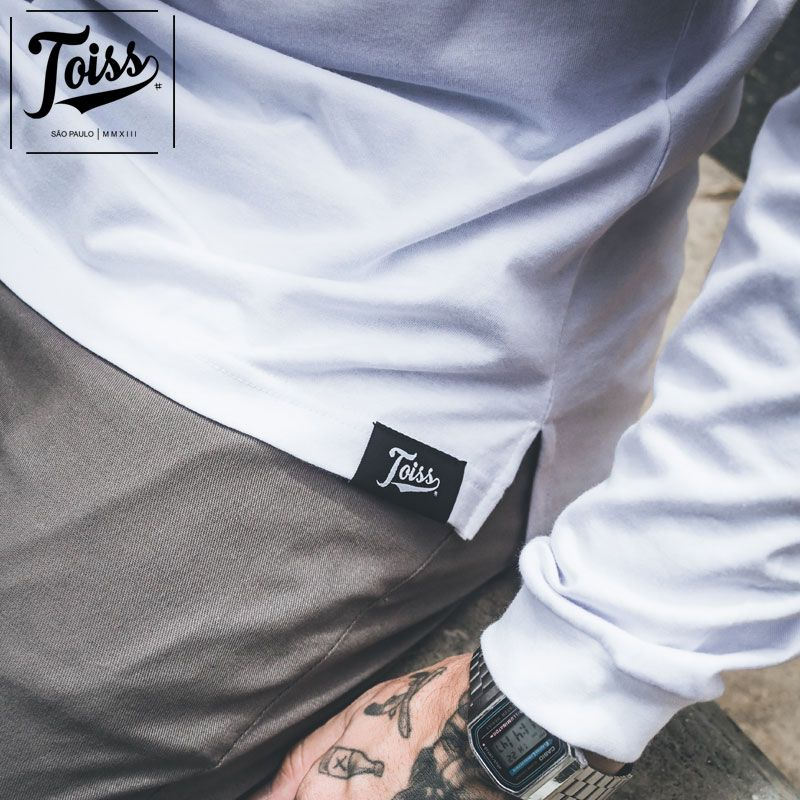 【TOISS】#3ラインデザインロンT ロングTシャツ ホワイト ネイマールブランド