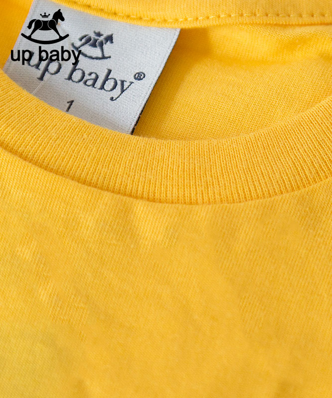 ■30% OFF■ 【UP BABY】男の子シンプルロゴタンクトップ【子供服1才〜3才・重ね着にもおすすめ】イエロー