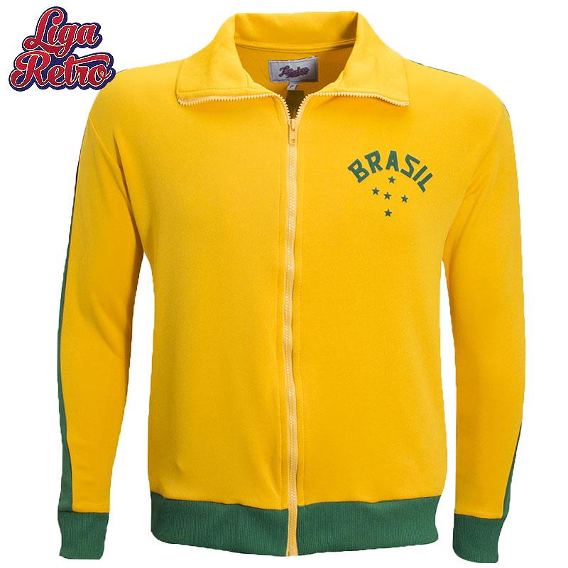 【Liga Retro】ブラジルサッカーデザインジャケット【1952】|イエロー