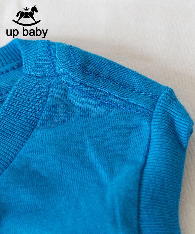 ■30% OFF■ 【UP BABY】男の子シンプルロゴタンクトップ【子供服1才〜3才・重ね着にもおすすめ】ブルー