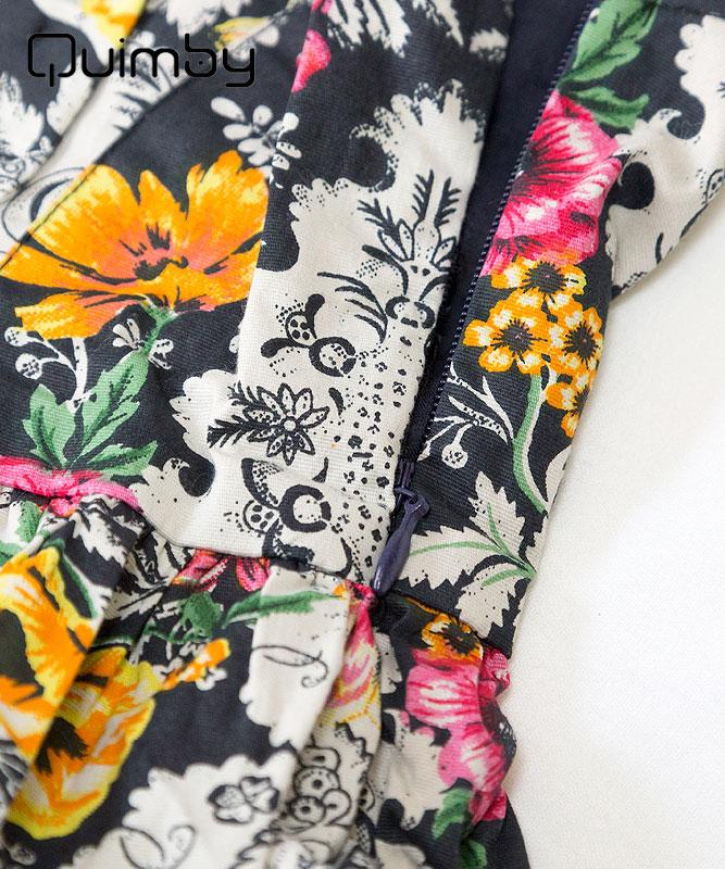 ■30% OFF■ 【QUIMBY】女の子ドレス【子供服・パーティー】お花柄フリルキャミドレス|ブラック