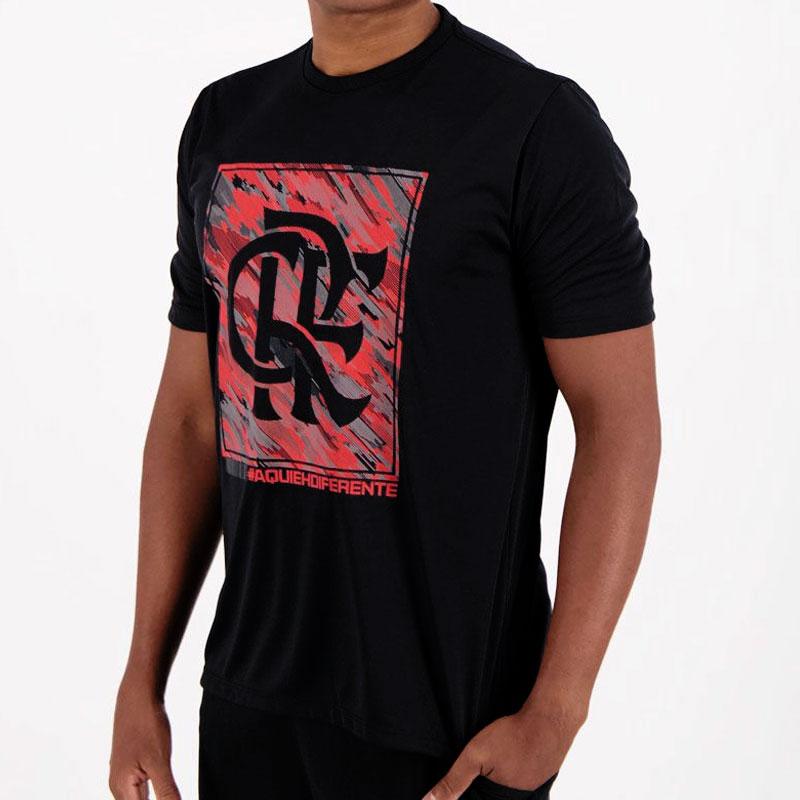フラメンゴ公式エンブレムアートTシャツ【FLAMENGO】ブラック