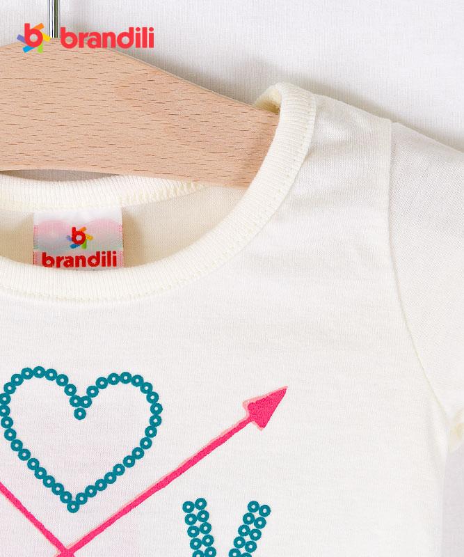 ■30%OFF■【BRANDILI】女の子ベビー半袖Tシャツ&レギンスセット【上下セット】LOVE