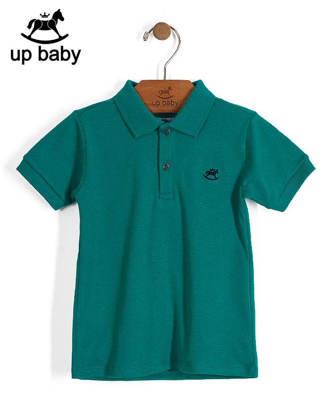 ■30% OFF■ 【UP BABY】男の子襟付きポロTシャツ【子供服1才〜3才・重ね着にもおすすめ】モスグリーン