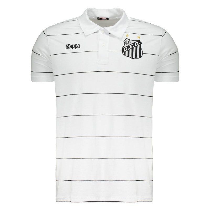 サントスFC公式襟付きデザインTシャツ【Kappa】SANTOS | ホワイト