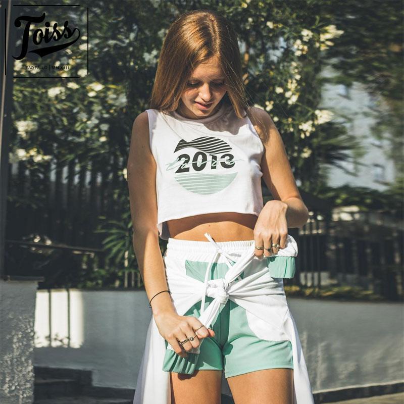 【TOISSレディース】トイス2013タンクトップVERAO 19′クロップド丈 | ホワイト