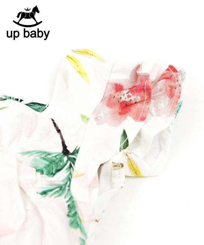 【UP BABY】女の子ベビーワンピース【サマードレス・おしゃれ】リゾートボタニカル ホワイト